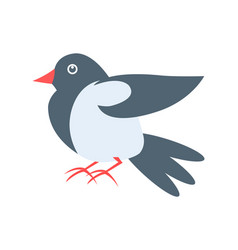 Closeup of pigeon on white vector