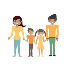 Couples family children vector
