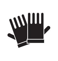 Garden gloves icon vector