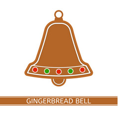 Gingerbread christmas bell vector