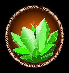 icon crystal vector image