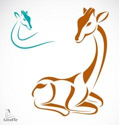 image of an giraffe vector image vector image