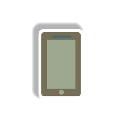 In paper sticker style phone vector