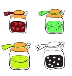 jars of jam vector image vector image