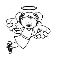 Little girl angel character vector