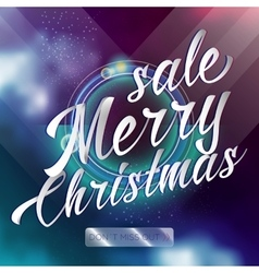 Merry chrismas sale lettering bright banner vector