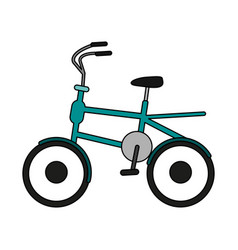 Old bike design vector