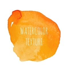 Orange Watercolor Background vector image vector image