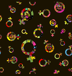 Pattern 60s seamless background inspired vector
