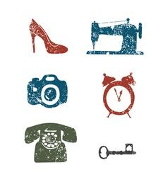 Repair shops icons vector