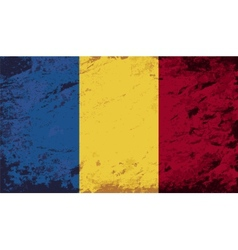 Romanian flag Grunge background vector image vector image