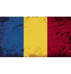 Romanian flag grunge background vector