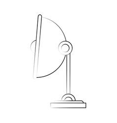 Satellite bowl antenna vector