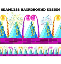 Seamless design with party objects vector image