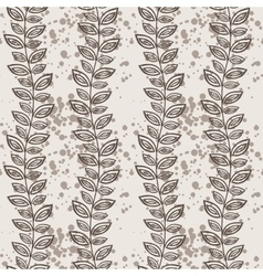 Seamless pattern of vines and leaves vector