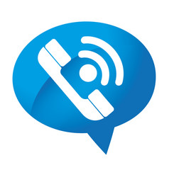 Speech bubble with phone service button icon vector
