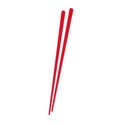 stick wooden food japanese utensil vector image vector image