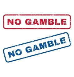 No gamble rubber stamps vector