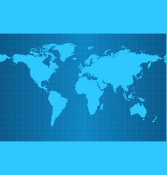 Earth map on blue gradient background vector