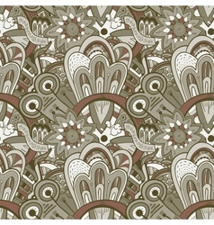 Seamless abstract hand-drawn pattern steampunk vector