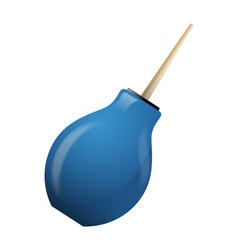 Blue enema on a white background vector image