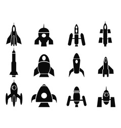 Rocket icons vector