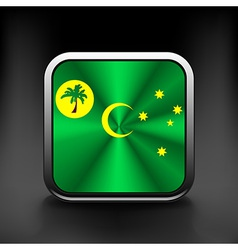 Cocos and keeling islands flag icon see also vector