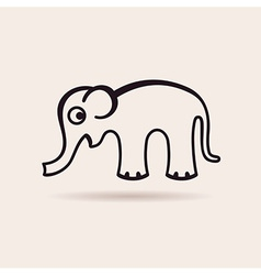 elephant icon emblem vector image