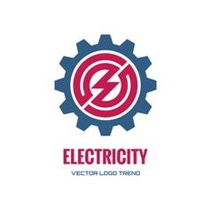 Electricity - logo concept vector