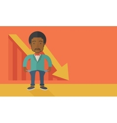 African businessman failed vector
