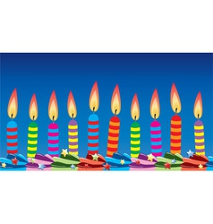 Row of birthday candles vector