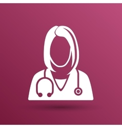 Icon doctor closeup medical graphic design vector