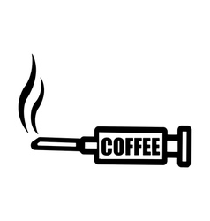 Black syringe with word coffee vector