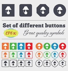 Table lamp icon sign big set of colorful diverse vector