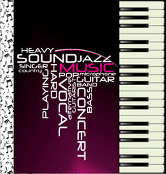 Music purple piano background vector