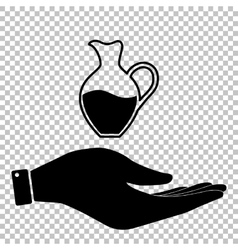 Amphora sign flat style icon vector
