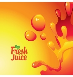 Fresh juices and drops and splashes vector