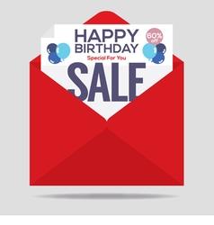 Happy birthday sale banner vector