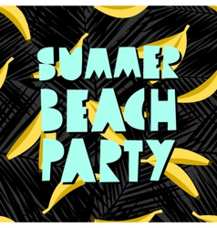 Summer beach party design vector