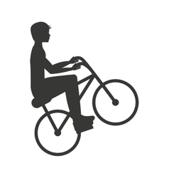 Bicycle extreme isolated icon design vector