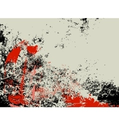 Abstract grunge background ink splashes in red and vector image vector image