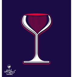 Beautiful sophisticated pink wine goblet stylish vector image vector image