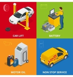Car repair concept Tire service meter Auto vector image