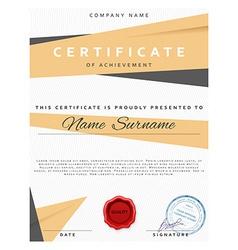 Certificate design Premium present certificate vector image