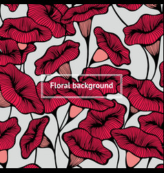 Decorative background with flowers hand drawing vector
