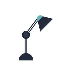 desk lamp bulb light office object design vector image vector image