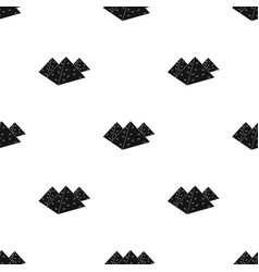 Egyptian pyramids icon in black style isolated on vector
