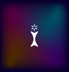 flat paper cut style icon of trophy and award vector image