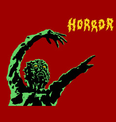 Green zombie reach out vector