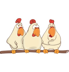 Hens cartoon vector image vector image